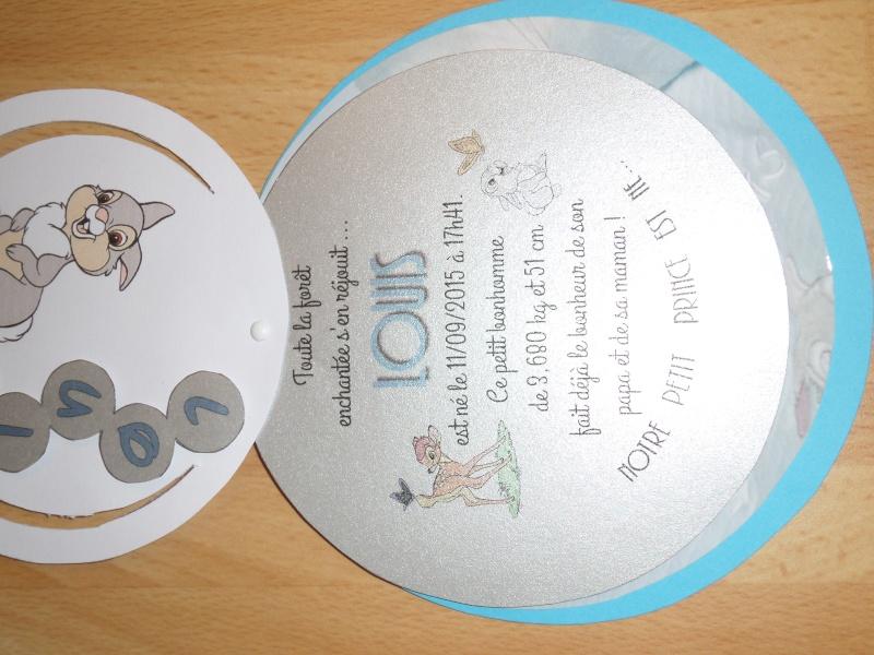 Souvent Arrivée de bébé dans le monde de Disney (déco chambre, faire part  FQ98