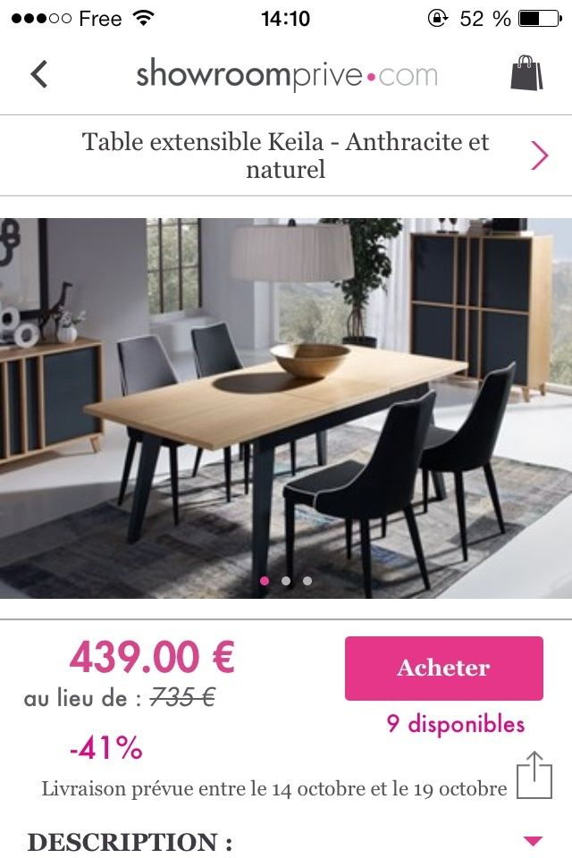a la recherche de cette table de salle manger. Black Bedroom Furniture Sets. Home Design Ideas