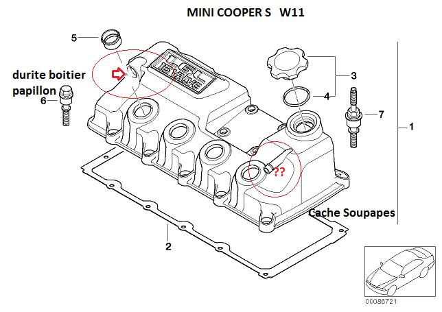 mini r53 cooper s an 2004   localisation durite