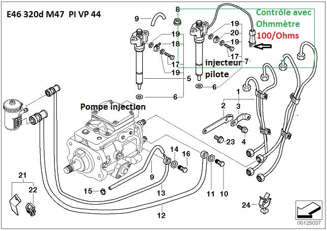 bmw e46 320d m47 an 1998 tester et changer l 39 injecteur pilote r solu. Black Bedroom Furniture Sets. Home Design Ideas