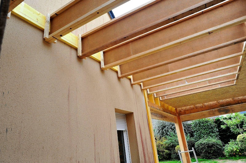 Construction d 39 un garage double en ossature bois page 3 - Structure en bois pour garage ...