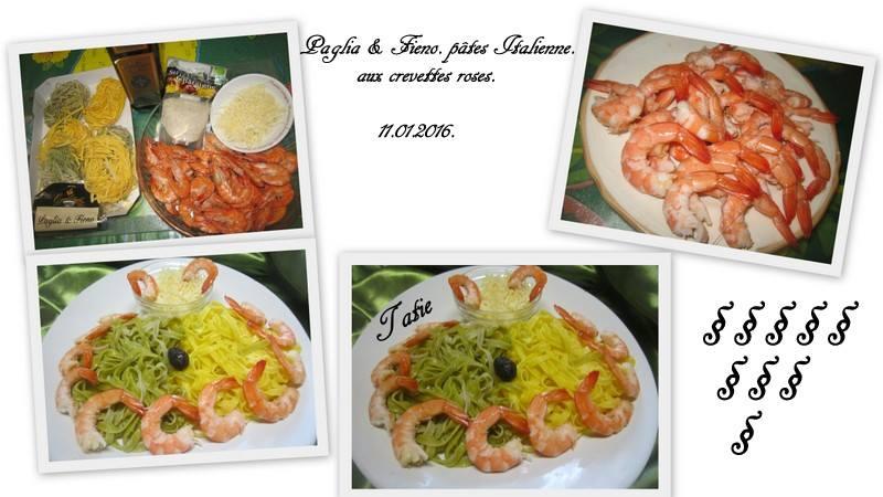 paglia fieno p 226 tes italienne aux crevettes roses