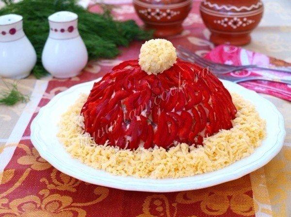 Салат красная шапочка с фото