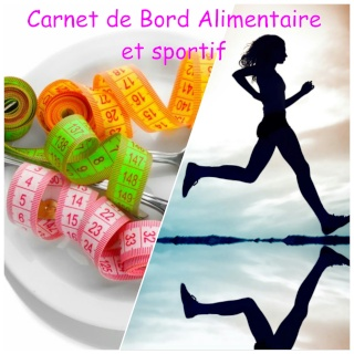 carnet de bord alimentaire et sportif. Black Bedroom Furniture Sets. Home Design Ideas