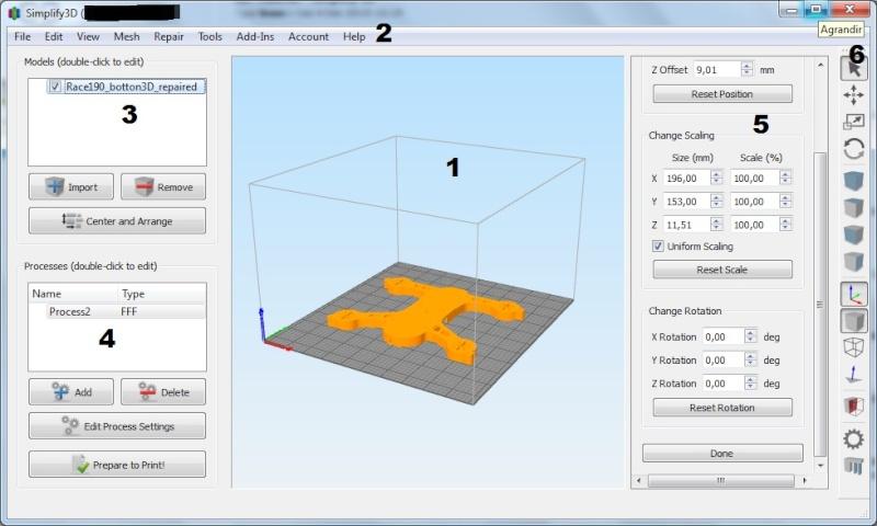 tutoriel simplify 3d multi rotor fans club. Black Bedroom Furniture Sets. Home Design Ideas