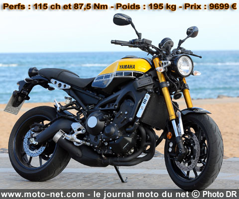 essai yamaha xsr 900 la mt 09 met 3 pattes dans le r tro. Black Bedroom Furniture Sets. Home Design Ideas