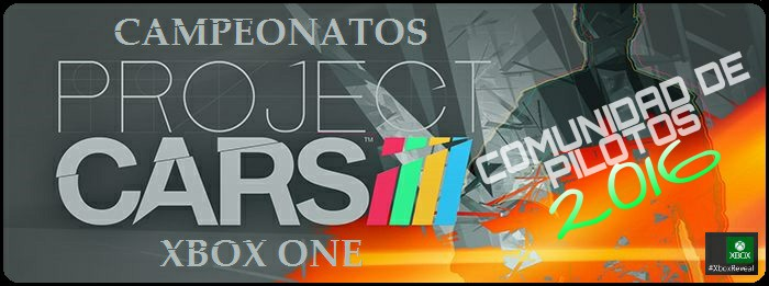 FORO CAMPEONATOS PROJECT CARS EN XBOX ONE