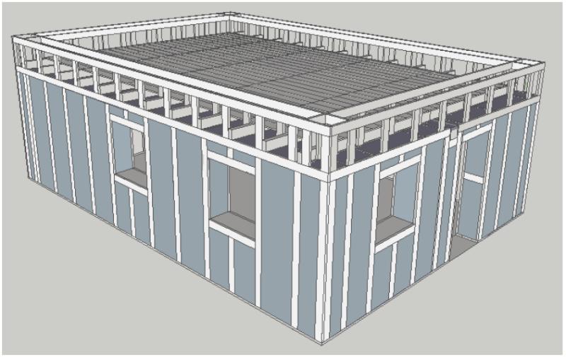 Toit double pente sur murs 2nd niveau plan - Calculer la pente d un toit ...