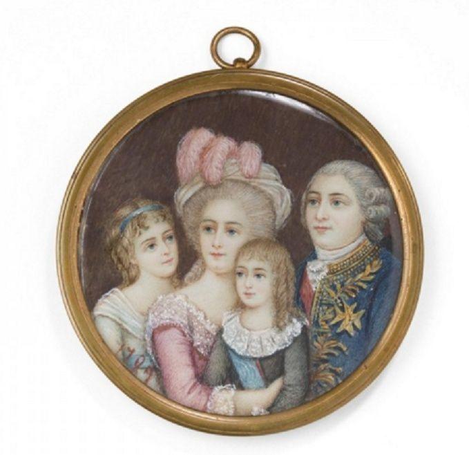 Miniatures xviii me repr sentant la famille royale - Symbole representant la famille ...