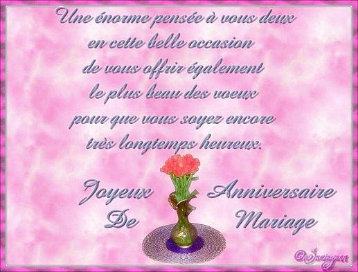 43 ans de mariage - Message Felicitations Mariage