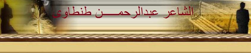 الشاعر عبدالرحمن  طنطاوى